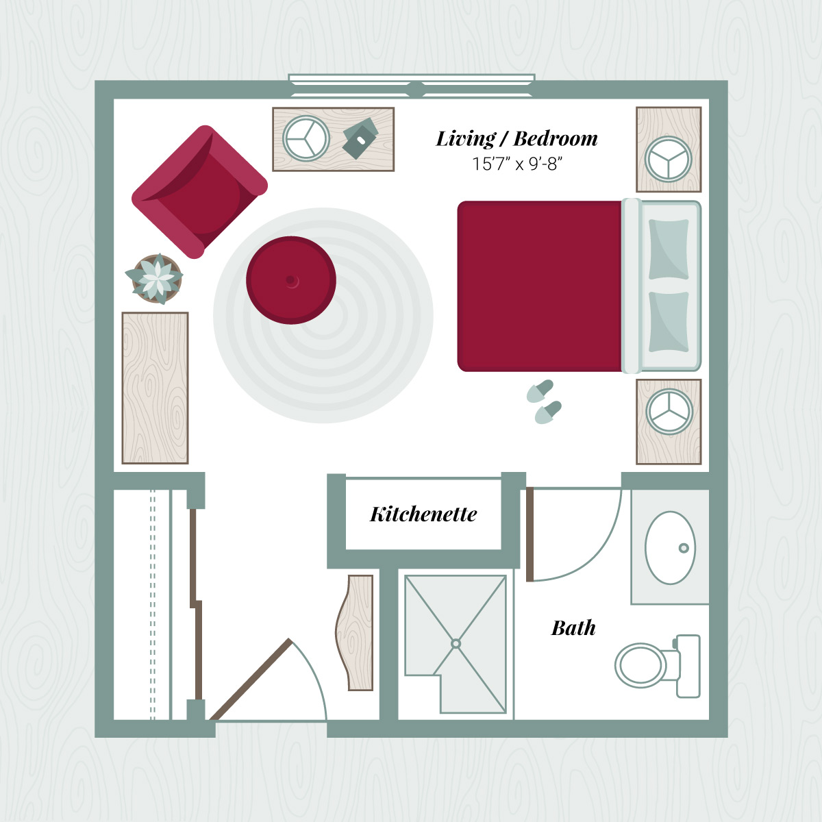 Floor Plan A - Studio Apartment
